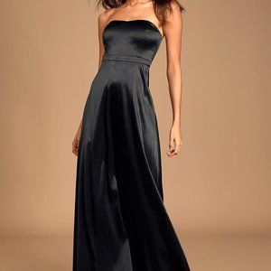 """Lulus BNWT """"These are the nights"""" satin dress Med"""